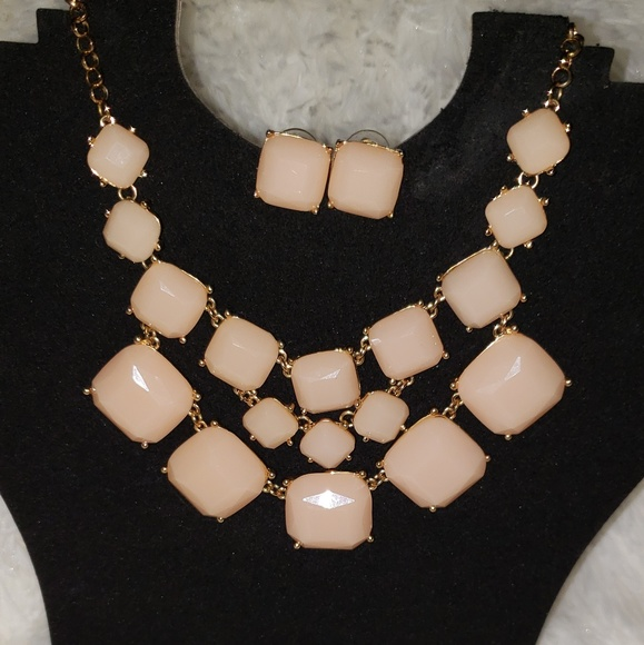 1f788a68bf11 Jewelry   Soft Pink Geometric Statement 2 Pc Set   Poshmark